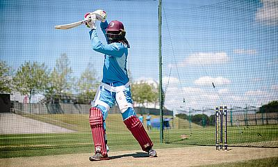 Chris Gayle hits through the covers