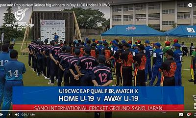 Japan and Papua New Guinea big winners in Day 1 ICC Under 19 CWC