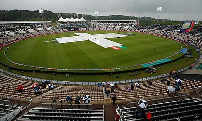 The Ageas Bowl, Southampton, Britain - June 10, 2019 General view as rain stops play