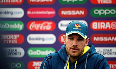 Australia's Aaron Finch during a press conference