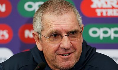 England Head Coach Trevor Bayliss during a press conference