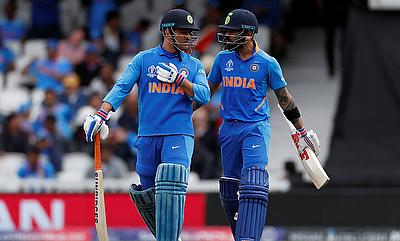 India's MS Dhoni and Virat Kohli