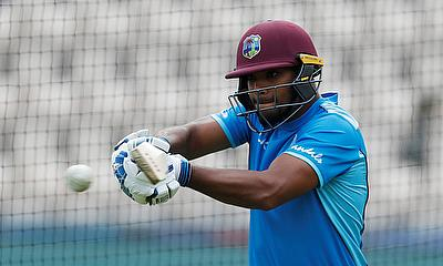 West Indies Nicholas Pooran during nets
