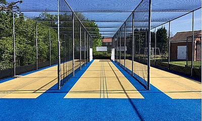 Kings Heath CC opted for the new NPC carpet with a blue border and run-up to increase contrast for youth and Visually Impaired users