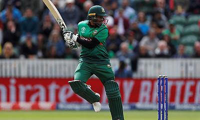 Bangladesh's Shakib Al Hasan in action