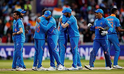 India players celebrate after the match