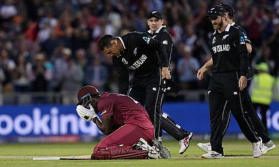 West Indies fall just short of a dramatic win against New Zealand at Old Trafford