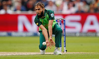 South Africa's Imran Tahir in action
