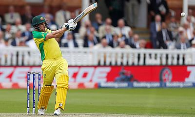 Australia's Aaron Finch in action