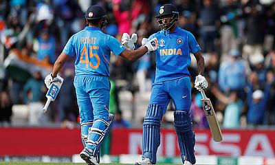 Rohit Sharma and Hardik Pandya celebrate