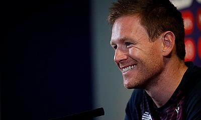 England's Eoin Morgan during the press conference