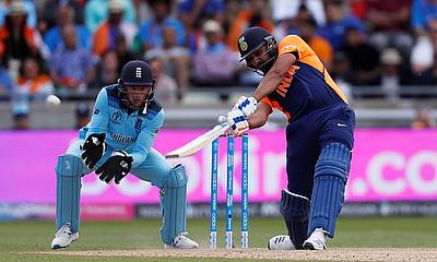 India's Rohit Sharma in action Action