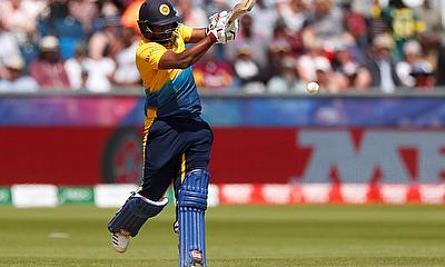 Sri Lanka's Avishka Fernando in action