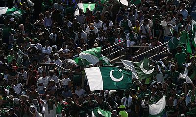 Fans during the match