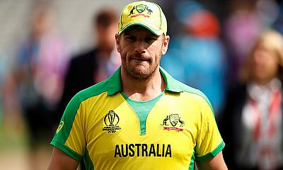 Australia's Aaron Finch after the coin toss before the match