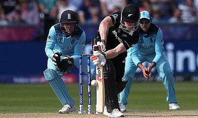New Zealand's James Neesham in action