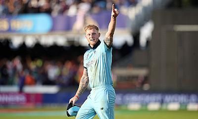 Ben Stokes celebrates winning the World Cup