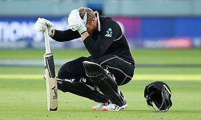 New Zealand's Martin Guptill looks dejected after England win the World Cup following a super over