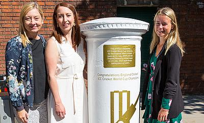 Cricket World Cup postbox unveiled outside of Lord's