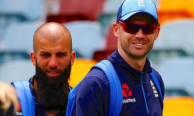 Jimmy Anderson and Moeen Ali