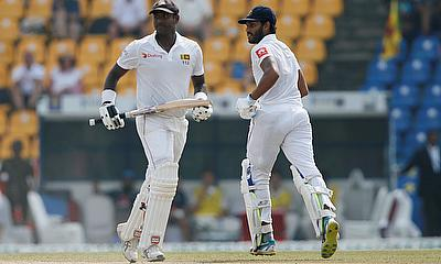 Angelo Mathews scored a half-century on day 2