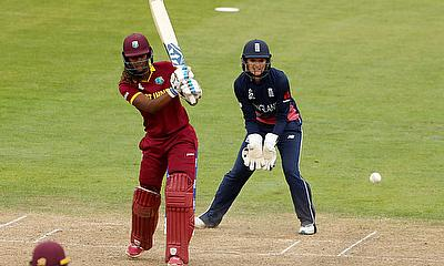 West Indies' Hayley Matthews in action