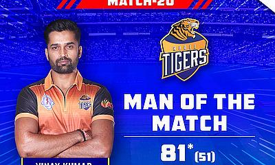Vinay Kumar remained unbeaten on 81 from 51 deliveries