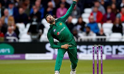 Pakistan's Junaid Khan in action