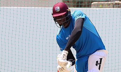 Jason Holder batting in the nets