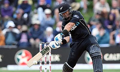Ross Taylor hits a shot