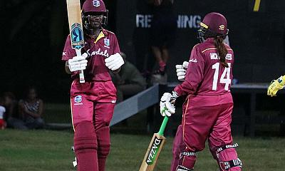 Stafanie Taylor reaching her 34th ODI half-century