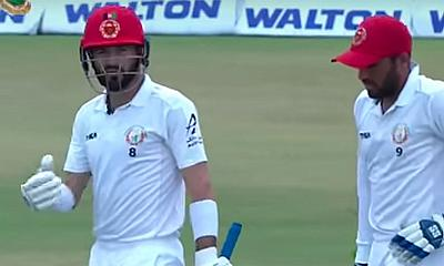 Afghanistan edging towards an historic Test win against Bangladesh