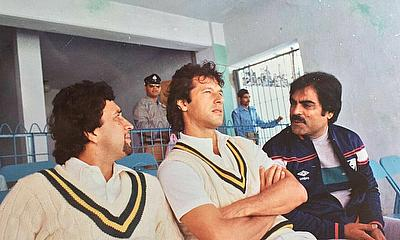 With skipper Imran Khan - Lahore (1982-83)