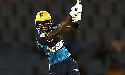Justin Greaves of Barbados Tridents hits four
