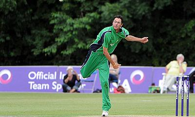 Albert van der Merwe - bowling for Ireland, June 2010