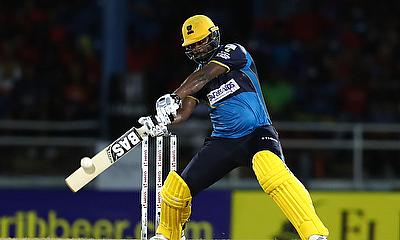 Johnson Charles of Barbados Tridents middles the ball