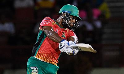 Nicholas Pooran of Guyana Amazon Warriors hits 4