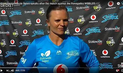 Strikers captain Suzie Bates speaks after the match against the Renegades WBBL|05
