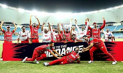 Oman defeated Hong Kong to become the 16th and final team to reach Australia 2020