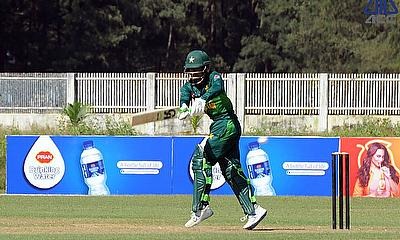 Rohail Nazir in action against Sri Lanka during ACC Emerging Asia Cup 2019