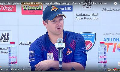 Despite disappointing defeat Shane Watson praised high energy of fans at Zayed Cricket Stadium