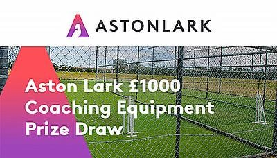 Enter the Aston Lark draw to win £1000 of cricket coaching equipment!