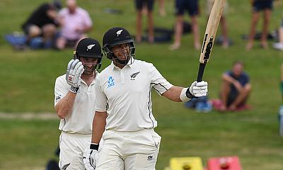 New Zealand's Ross Taylor celebrates his century