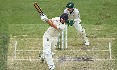 James Bracey on the attack against Australia A at the MCG