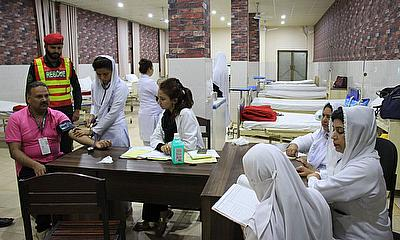 20-bed hospital providing first aid near Gaddafi Stadium