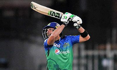 Shahid Afridi was unbeaten on 35 before the match had to be called off due to rain