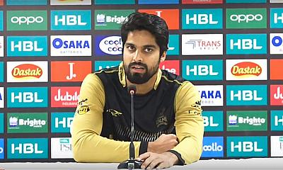 Umer Amin, Peshawar Zalmai speaks to the media