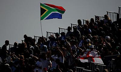 South Africa fans celebrating