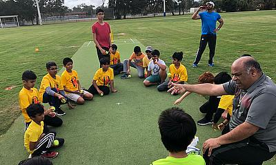 Tampa Cricket League (TCL) Youth program  - Picture taken before the lockdown