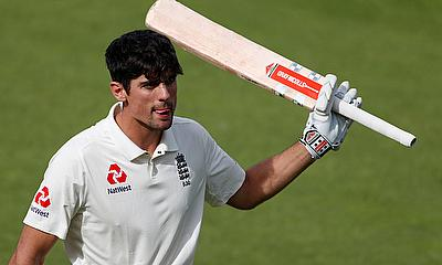 Alastair Cook celebrates century